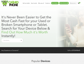 Visit Cashed Phone to recycle your  mobile or tablets for cash with sell any mobile