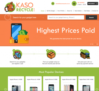 Sell your mobile or gadget to Kaso Recycle and compare prices at sellanymobile.co.uk