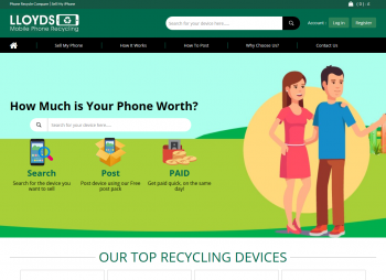 Visit Lloyds Mobile Phone Recycling to recycle your  mobile or tablets for cash with sell any mobile