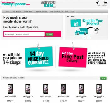 Visit Money For Your Phone to recycle your  mobile or tablets for cash with sell any mobile