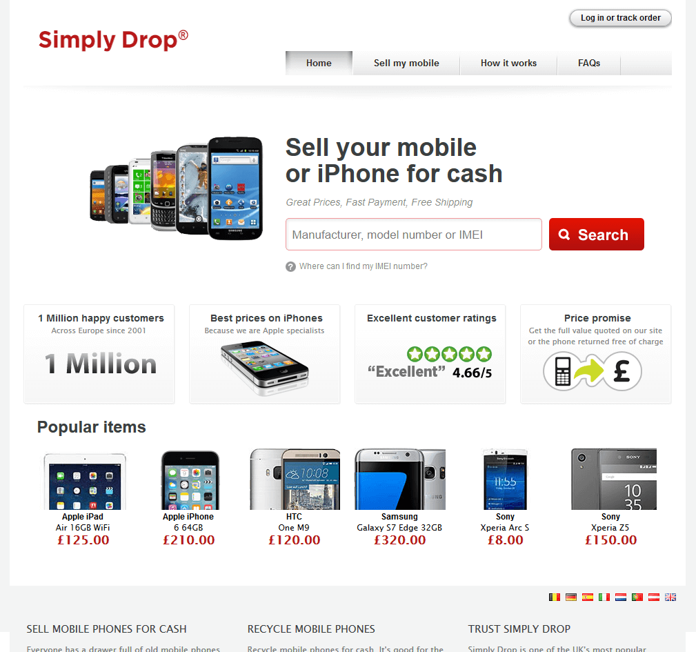 Visit Simply Drop to recycle your  mobile or tablets for cash with sell any mobile