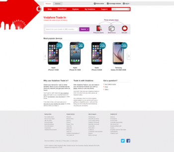 Visit Vodafone Trade In to recycle your  mobile or tablets for cash with sell any mobile