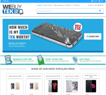 Visit We Buy Tek to recycle your  mobile or tablets for cash with sell any mobile